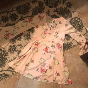 Pale pink floral sundress!